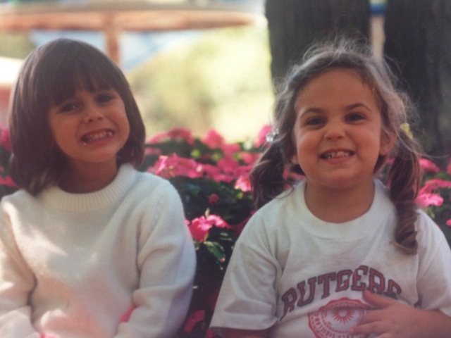 Karissa (left) and Lisa (right) growing up in New Jersey